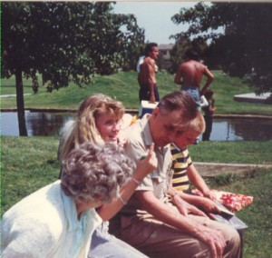 John and Vivian Gnewuch Visit with their Grandchildren at a Park in Cerritos