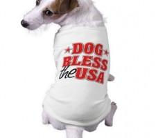 Dog Bless the USA Patriotic T-Shirt