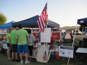 North County Tea Party Patriots Booth at Paso Robles Relay for Life, 2011