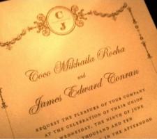 Model Coco Rocha's Wedding Invitation
