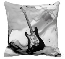Guitar Decorative Throw Pillows
