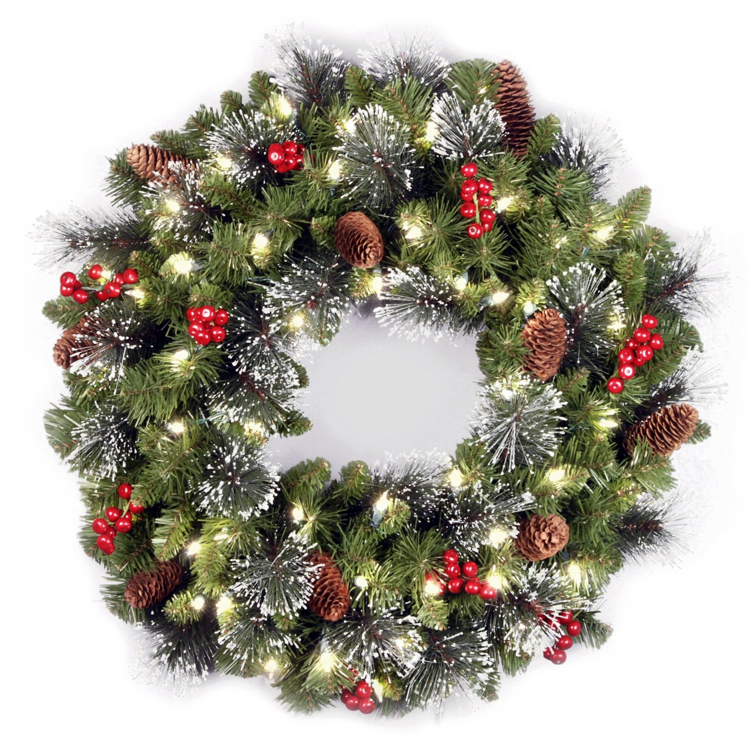 Prettiest pre lit christmas wreaths for Large christmas decorations