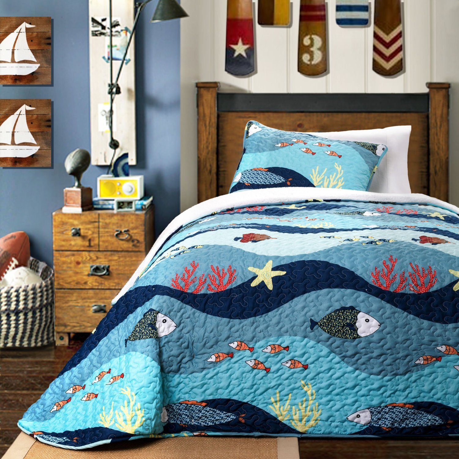 Matrimonio Bed Ocean : Ocean themed bedding webnuggetz