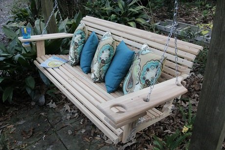 Deluxe Wooden Porch Swings
