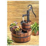 Barrel Fountains and Planters