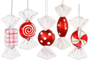 Candy Christmas Ornaments