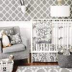 Gray Crib Bedding and Nursery Decor