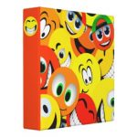 Smiley Face Binders for School