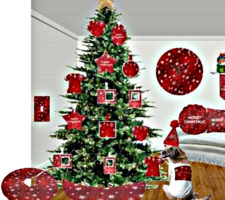 christmas skirt and decorations sandyspider zazzle
