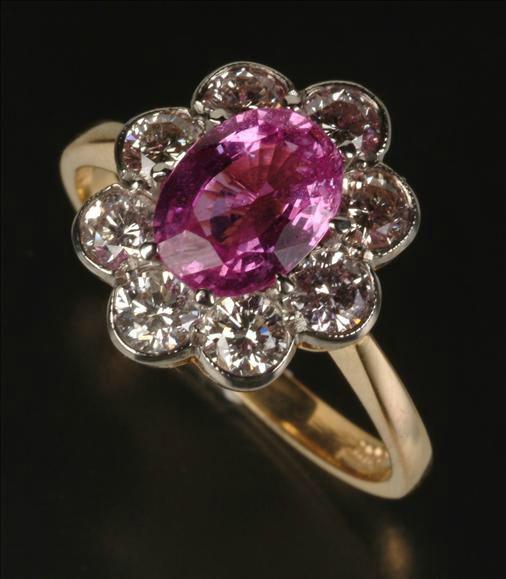 genuine pink sapphire jewelry september birthstone. Black Bedroom Furniture Sets. Home Design Ideas