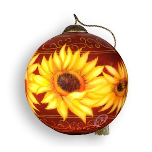 top 28 sunflower christmas ornament sunflower glass. Black Bedroom Furniture Sets. Home Design Ideas