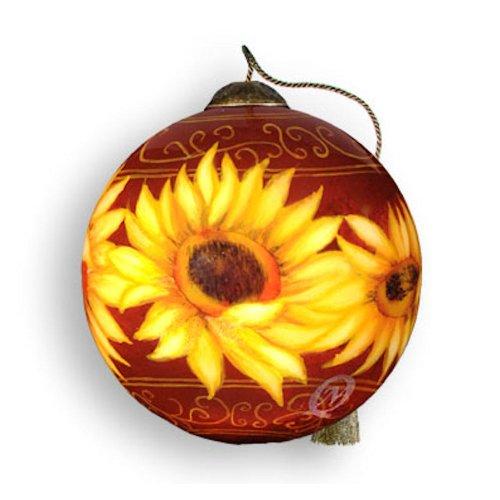 top 28 sunflower christmas ornament sunflower glass. Black Bedroom Furniture Sets. Home Design Ideas