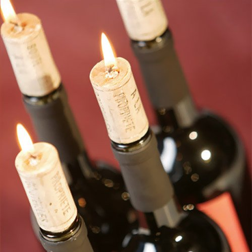 Even The Finest Wine In The Cellar Can T Hold A Candle To These Cute Wedding Table Decorations The Wine Cork Candles Are Show Stopping Bottle Stoppers
